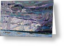 Shore To Shore Showers Greeting Card