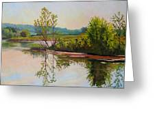 Shoreline At Evening Greeting Card