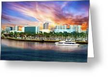 Shoreline Long Beach Ca 09 Greeting Card