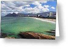 Shoreline Of Ipanema  Greeting Card