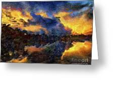 Shoreline Sunrise Greeting Card