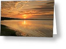 Shoreline Sunset Greeting Card