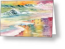Shoreline Watercolor Greeting Card