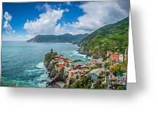 Shores Of Cinque Terre Greeting Card