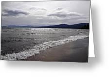 Shores Of King's Beach Lake Tahoe Greeting Card