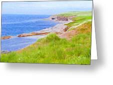 Shores Of Newfoundland Greeting Card