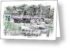 Shorey Park Bridge II Greeting Card