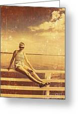 Shorncliffe Pier Pin Up Greeting Card