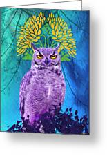 Owl At Night Greeting Card