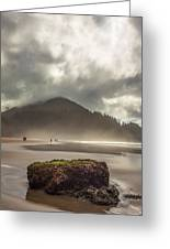 Short Sands Misty Day Greeting Card