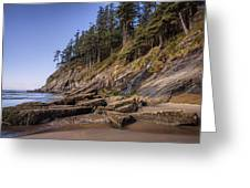 Short Sands Waterfall Greeting Card