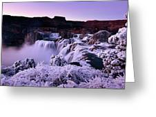 Shoshone Falls In Winter Greeting Card