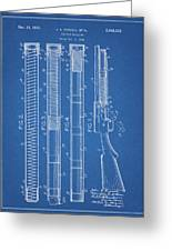 Shotgun magazine blueprint drawing by dan sproul shotgun magazine blueprint greeting card malvernweather Gallery