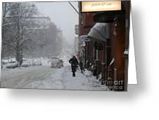 Shoveling Snow Greeting Card