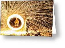 Shower Of Fire Greeting Card
