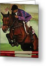 Showjumping Greeting Card