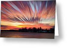 Shredded Sunset Greeting Card
