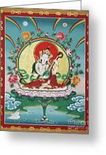 Shri Saraswati - Goddess Of Wisdom And Arts Greeting Card