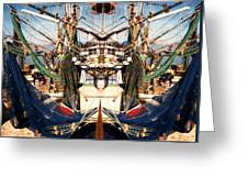 Shrimp Boat Abstract Greeting Card