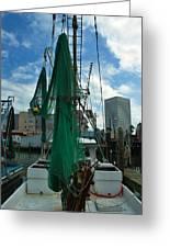 Shrimp Boat Back Greeting Card