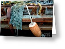 Shrimp Boat Detail Greeting Card