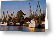 Shrimp Boat Fleet Georgetown Sc Greeting Card