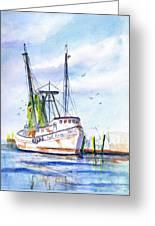 Shrimp Boat Gulf Fishing Greeting Card