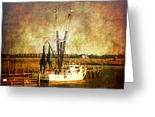 Shrimp Boat In Charleston Greeting Card