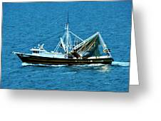 Shrimp Boat In The Gulf Greeting Card
