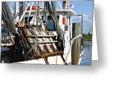 Shrimp Boat Is In Greeting Card