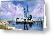 Shrimpboat Greeting Card