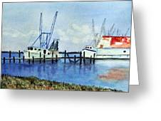 Shrimpboats At Dock Greeting Card