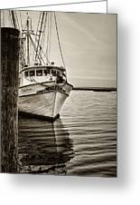 Shrimpin' Boat IIi Greeting Card