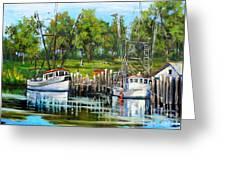 Shrimping Boats Greeting Card