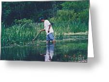 Shrimping In The Bayou Greeting Card