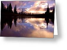 Shrouded In Clouds Greeting Card