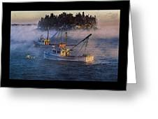 Shrouded In Morning Sea Smoke Greeting Card