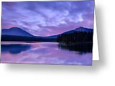 Shunda Lake At Dawn Greeting Card