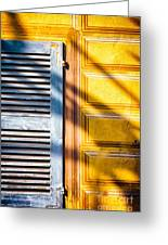 Shutter And Ornate Wall Greeting Card