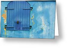 Shuttered Blue Greeting Card