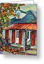 Shuttered Red  Greeting Card