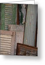 Shutters And Column  Greeting Card