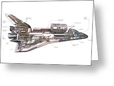 Shuttle Cutaway Greeting Card