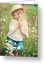 Shy Child Greeting Card