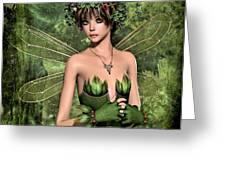 Shy Fairy Greeting Card