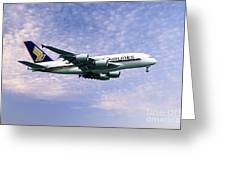 Sia A380 9v-ska Greeting Card