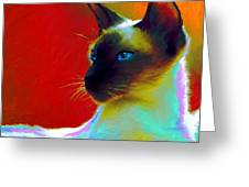 Siamese Cat 10 Painting Greeting Card
