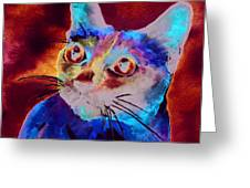 Siamese Cat Greeting Card by Christy  Freeman