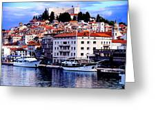 Sibenik Waterfront Greeting Card