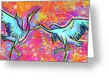 Siberian Cranes Greeting Card